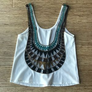 NWOT Rumor Boutique tank with back detail